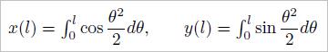 クロソイド曲線(コルヌ螺旋)